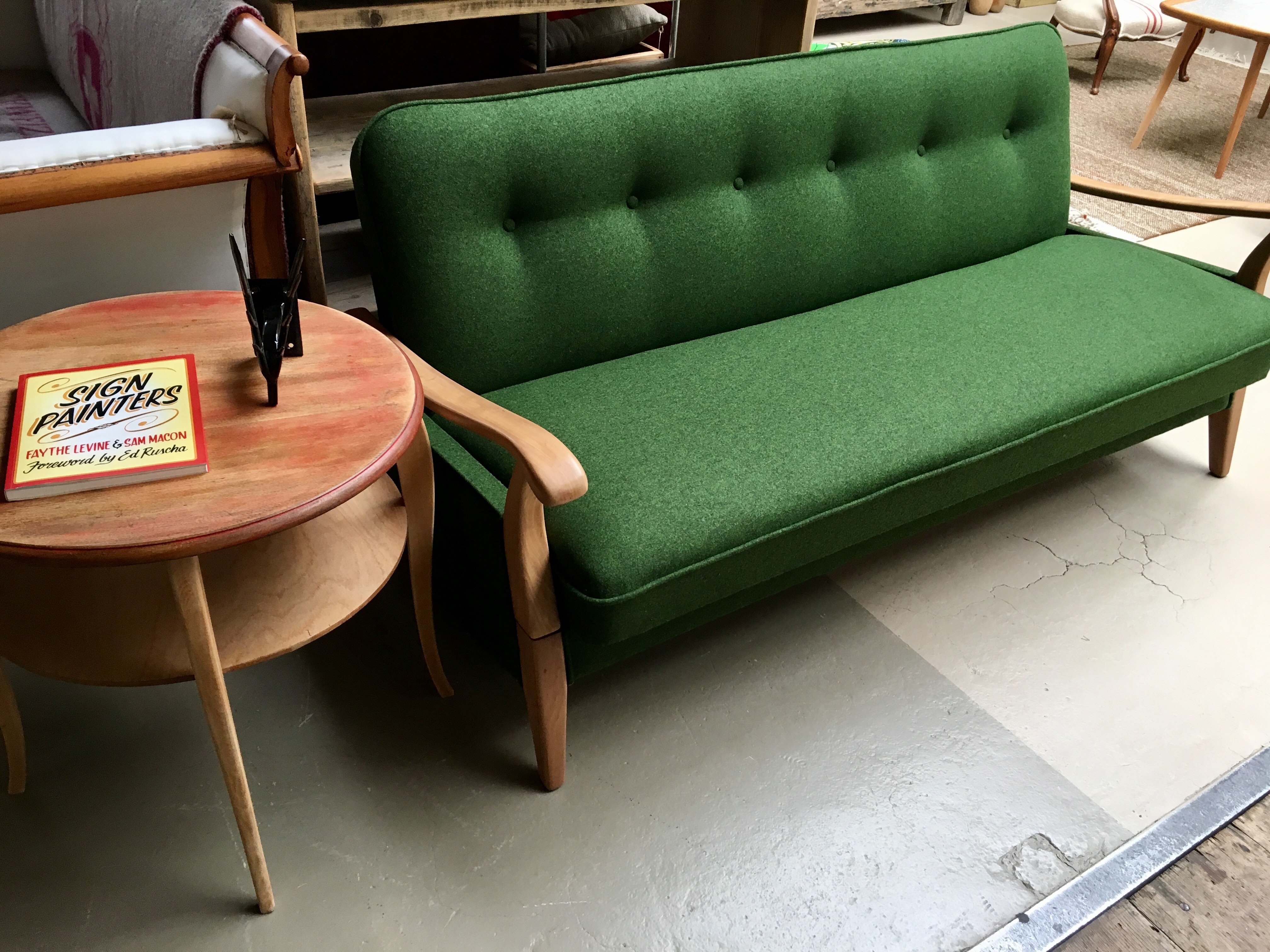 Restoed vintage bed sofa